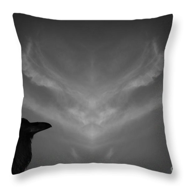 The Visitation Throw Pillow by Dave Gordon