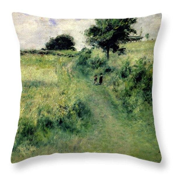 The Watering Place Throw Pillow by Renoir