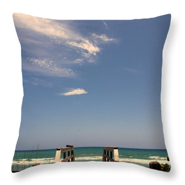 The Way Out To The Beach Throw Pillow by Susanne Van Hulst