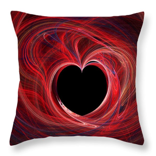 The Way To My Heart Throw Pillow by Kaye Menner