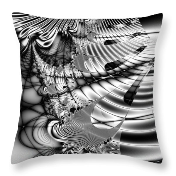 The Web We Weave Throw Pillow by Wingsdomain Art and Photography