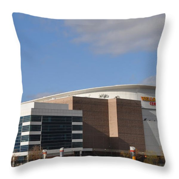 The Wells Fargo Center - Philadelphia  Throw Pillow by Bill Cannon