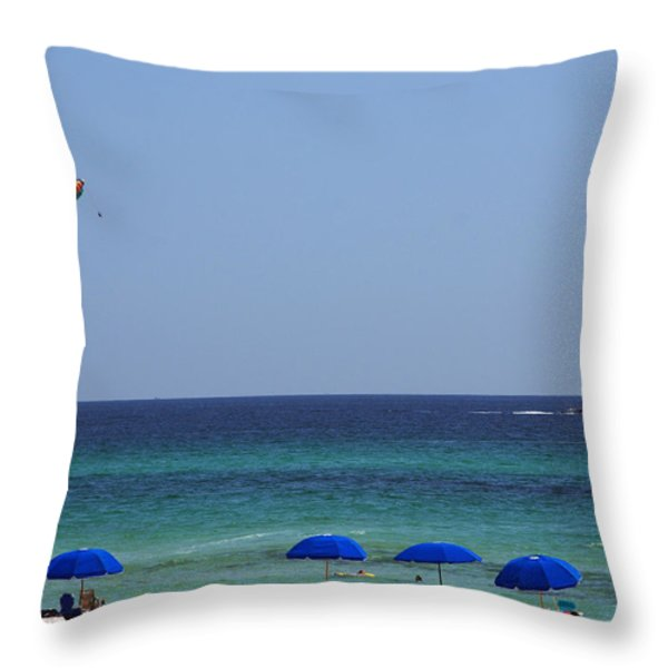 The White Panama City Beach - before the Oil Spill Throw Pillow by Susanne Van Hulst