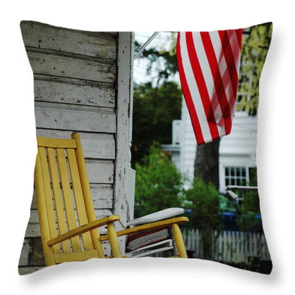 The Yellow Rocking Chair Throw Pillow by AdSpice Studios