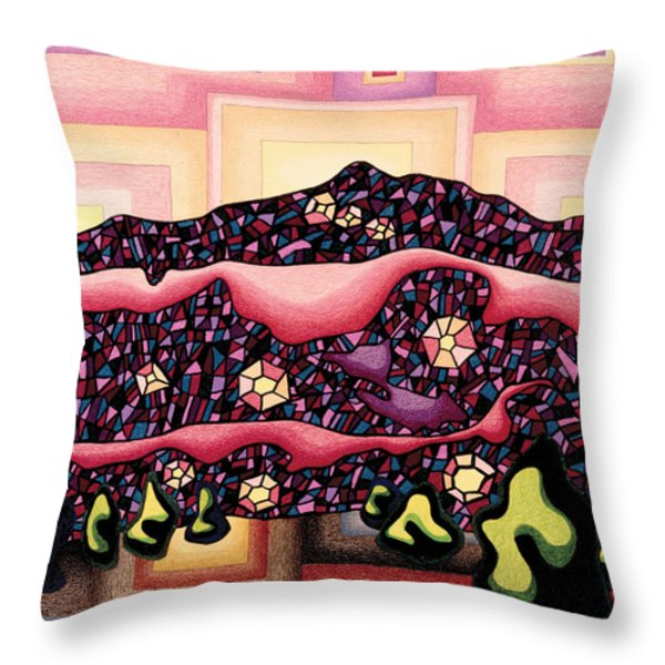 Theta Frequency Throw Pillow by Dale Beckman