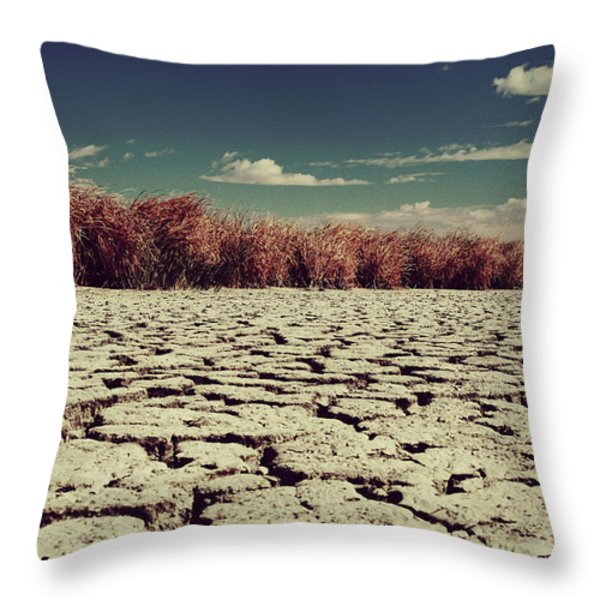 Thirsty Throw Pillow by Laurie Search