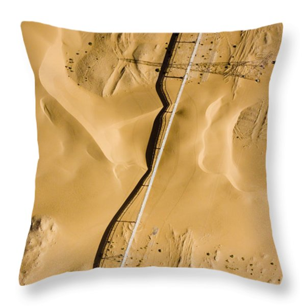 This Is The Longest Phosphate Conveyor Throw Pillow by Michael Fay