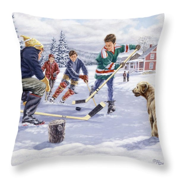 This Time For Sure Throw Pillow by Richard De Wolfe