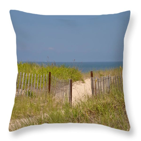 This Way to the Beach Throw Pillow by Bill Cannon
