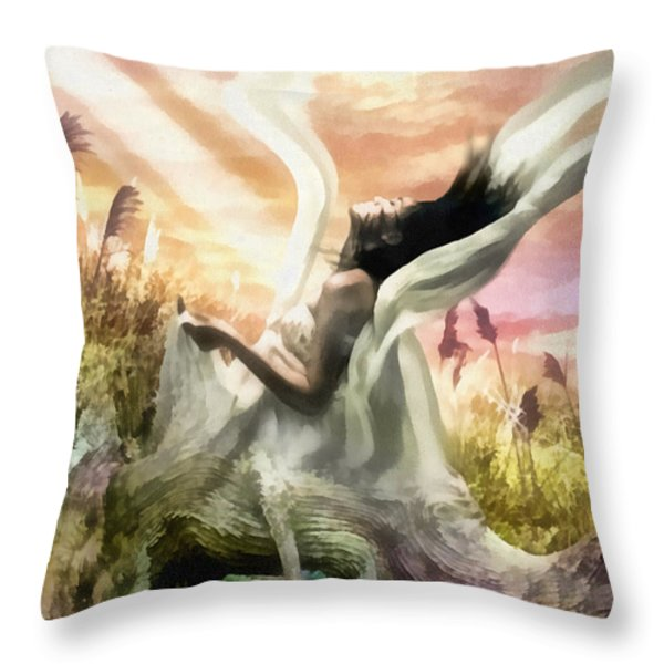 Thorn Throw Pillow by Mo T