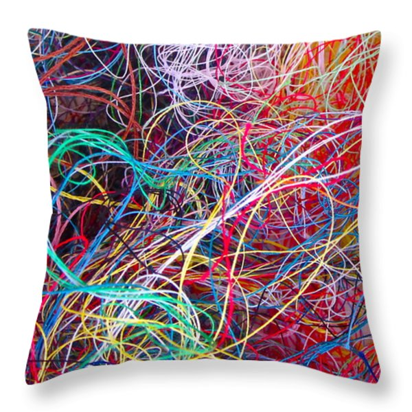 Thread Collection Throw Pillow by Gwyn Newcombe