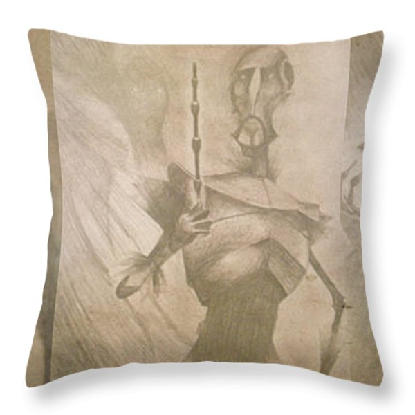 Three Brothers - Combined Throw Pillow by Lisa Leeman