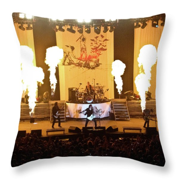 Three Days Grace On Fire Throw Pillow by Amber Flowers