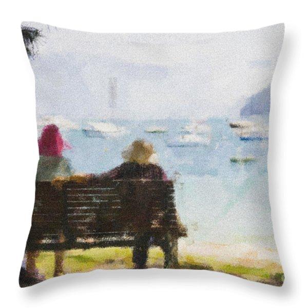 Three Ladies Throw Pillow by Avalon Fine Art Photography