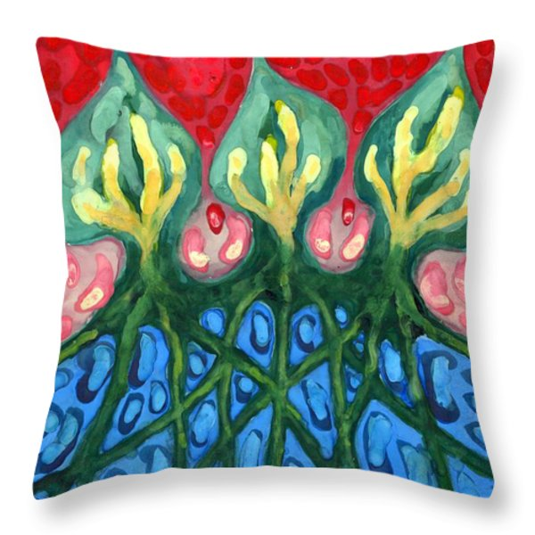 Three Throw Pillow by Wojtek Kowalski