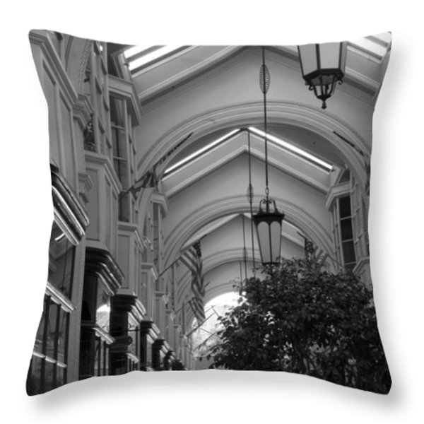 Through The Building Throw Pillow by Jose Valeriano
