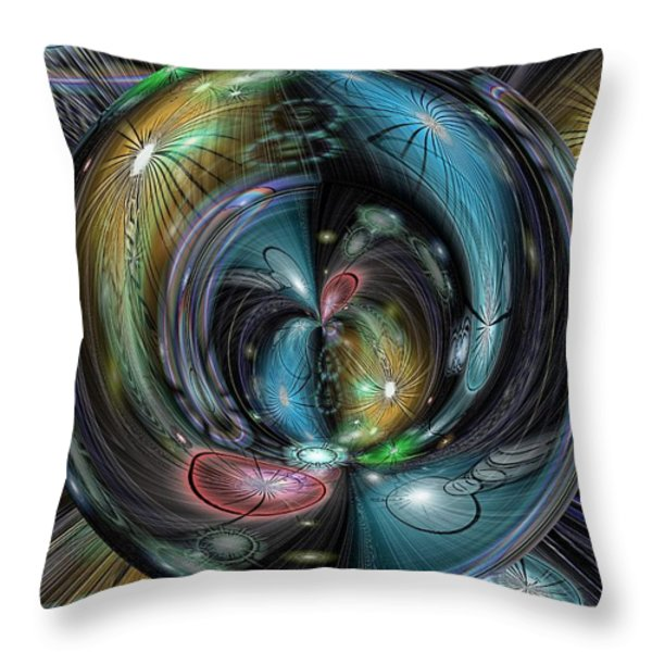 Through The Hoop Throw Pillow by Tim Allen