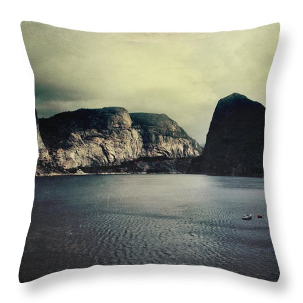 Through Thick or Thin Throw Pillow by Laurie Search