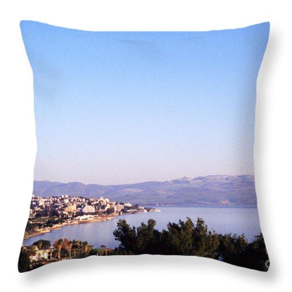 Tiberias Sea Of Galilee Israel Throw Pillow by Thomas R Fletcher