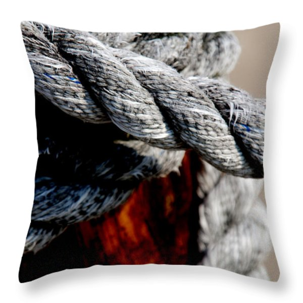 Tied Together Throw Pillow by Susanne Van Hulst