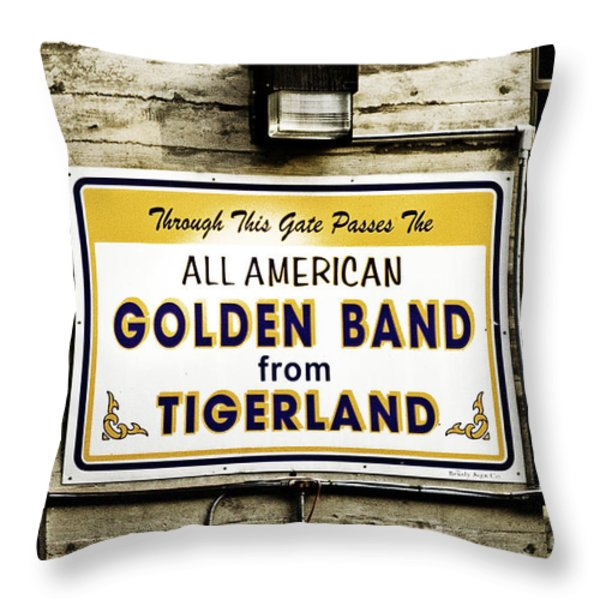 Tigerland Band Throw Pillow by Scott Pellegrin