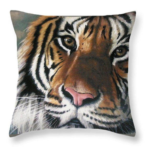 Tigger Throw Pillow by Barbara Keith