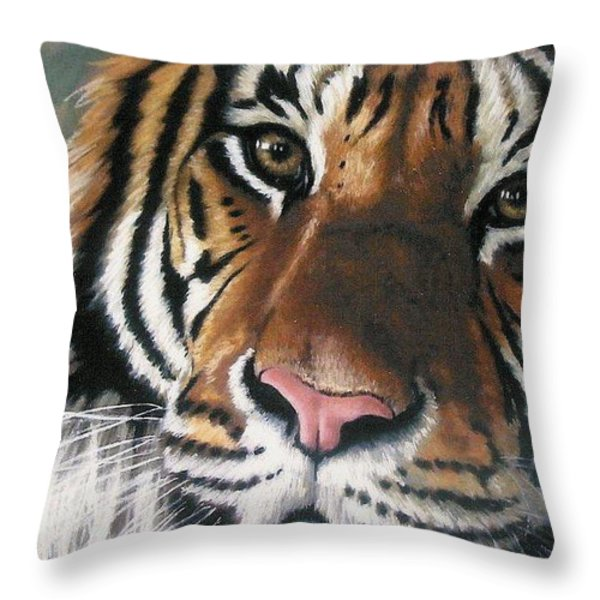 Tigger Throw Pillow by Barbara Keith
