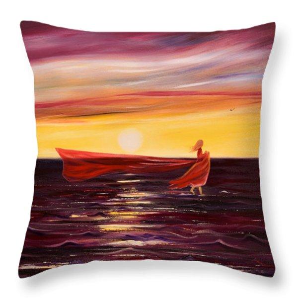 Throw Pillows - Till the Love Runs out Throw Pillow by Gina De Gorna