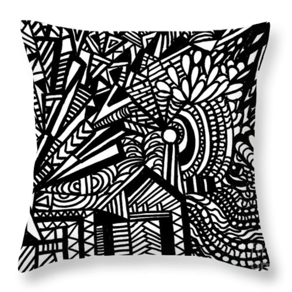 Tilting At Windmills Throw Pillow by WBK