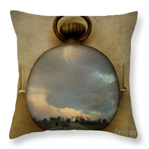 Time Free Throw Pillow by Martine Roch