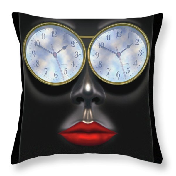 Time In Your Eyes Throw Pillow by Mike McGlothlen