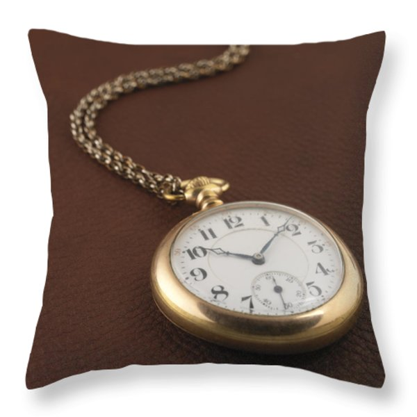 Time Throw Pillow by Jerry McElroy