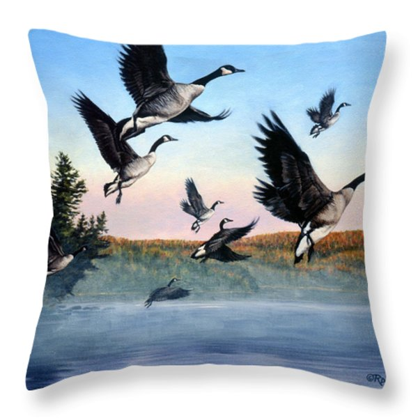 Time To Go Throw Pillow by Richard De Wolfe