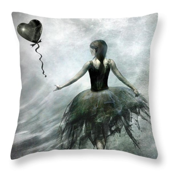 Time To Let Go Throw Pillow by Photodream Art
