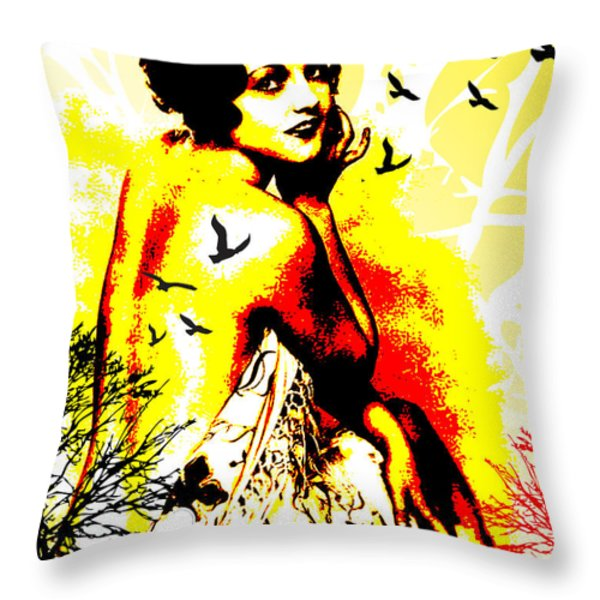 Timeless Flight Throw Pillow by Chris Andruskiewicz