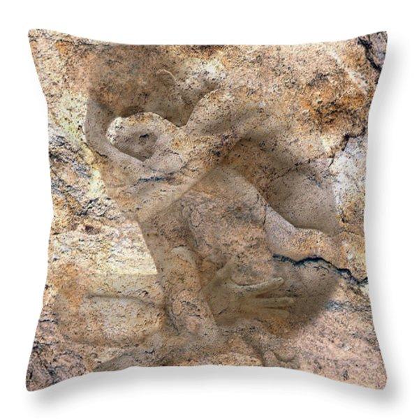 Timeless Male Throw Pillow by Kurt Van Wagner