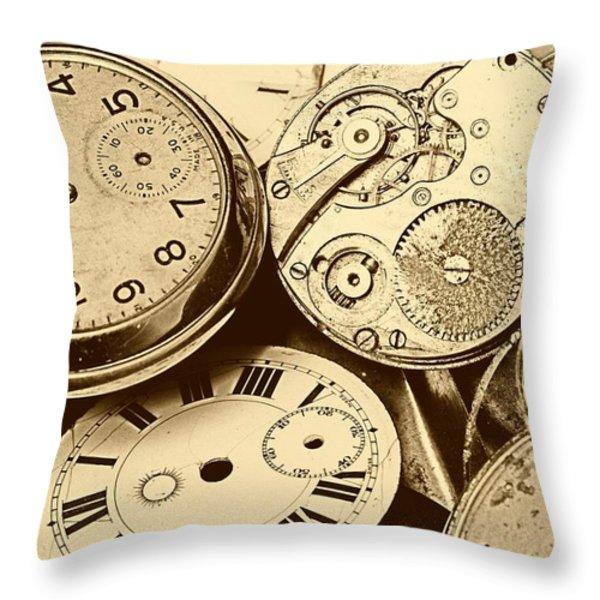 Timepieces Throw Pillow by John Short