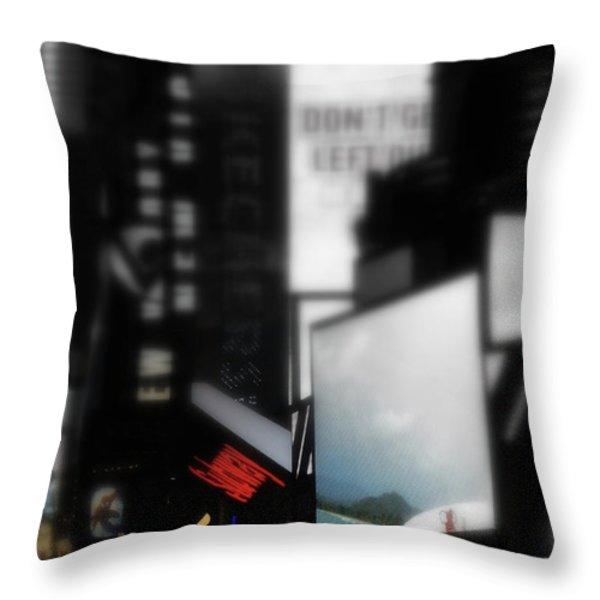 Times Square Subway Print Throw Pillow by Anahi DeCanio