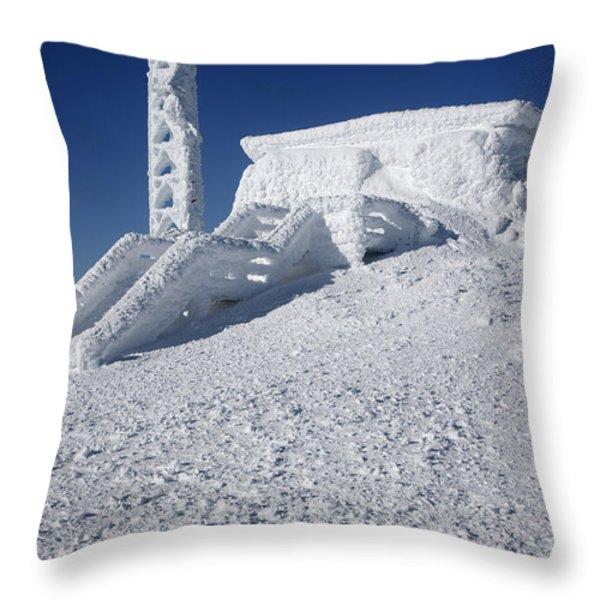 Tip Top House - Mount Washington New Hampshire  Throw Pillow by Erin Paul Donovan