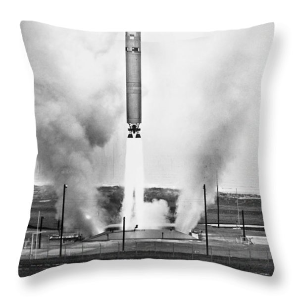 Titan Missile, 1964 Throw Pillow by Granger