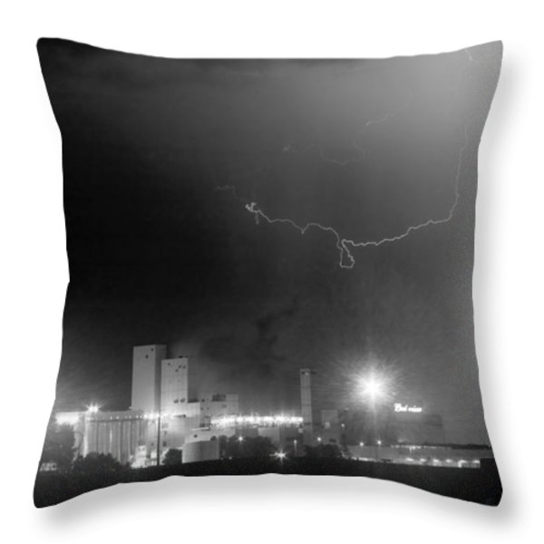 To The Right Budweiser Lightning Strike BW Throw Pillow by James BO  Insogna