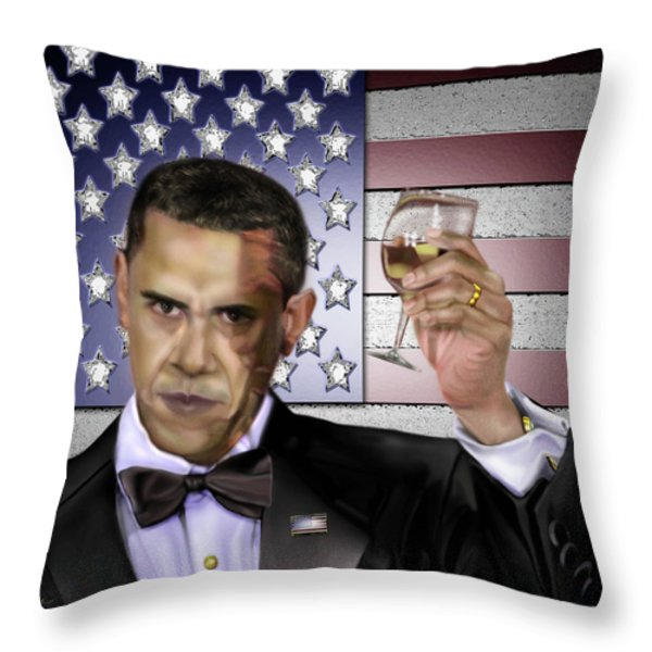 Toast - Respect  Throw Pillow by Reggie Duffie