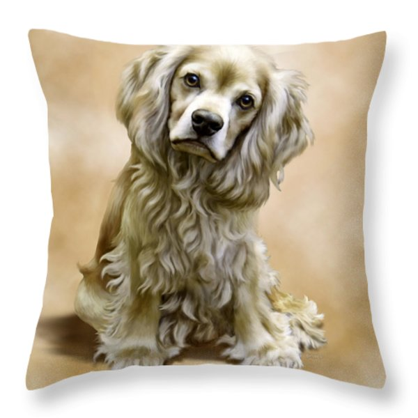 Toby Throw Pillow by Barbara Hymer