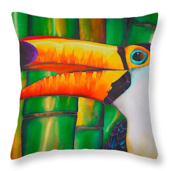 Toco Toucan Throw Pillow by Daniel Jean-Baptiste