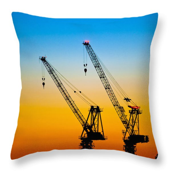 Tokyo Throw Pillow by Bill Brennan - Printscapes