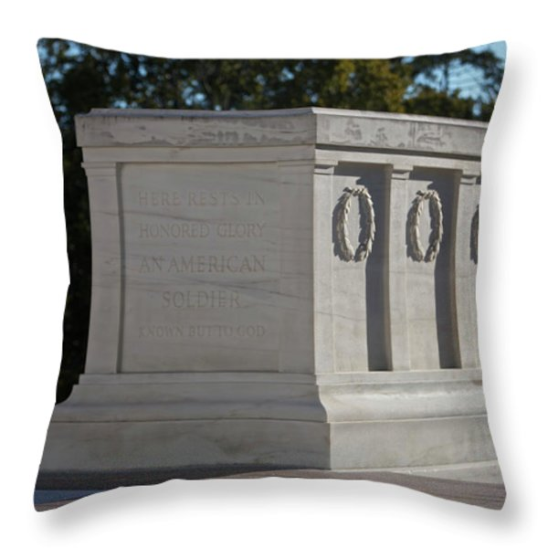 Tomb Of The Unknown Soldier, Arlington Throw Pillow by Terry Moore