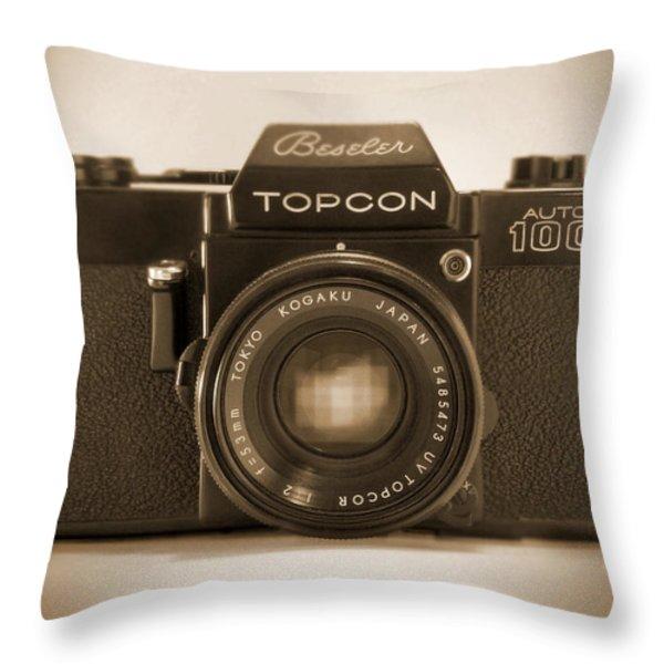 Topcon Auto 100 Throw Pillow by Mike McGlothlen