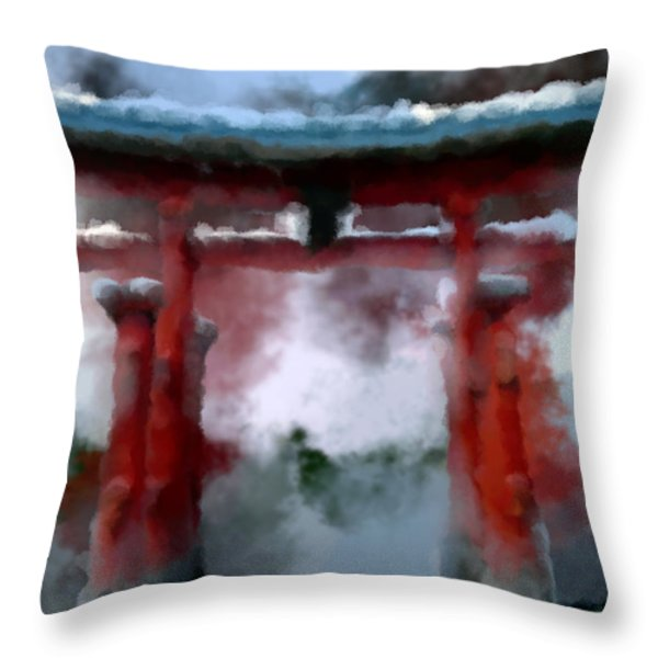 Torii Throw Pillow by Geoffrey C Lewis