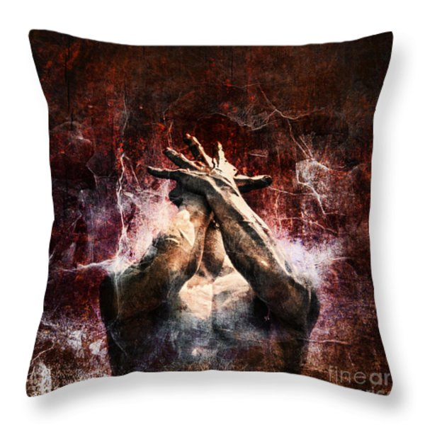 Torment Throw Pillow by Andrew Paranavitana