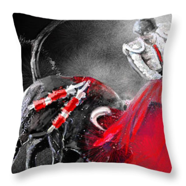 Toro Tarantino Throw Pillow by Miki De Goodaboom